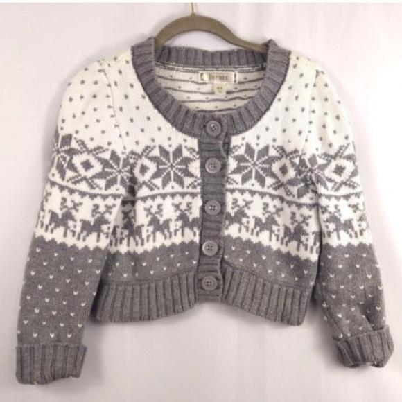 ❄️Decree grey white winter sweater cropped knit M